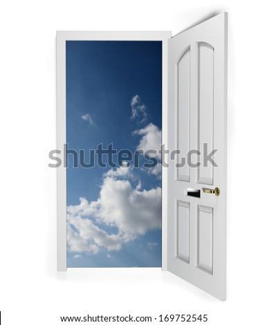 Concept for door to freedom or opportunity - stock photo