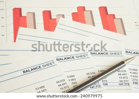 Concept for financial and accounting - stock photo