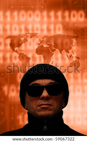 concept for global internet crime - stock photo