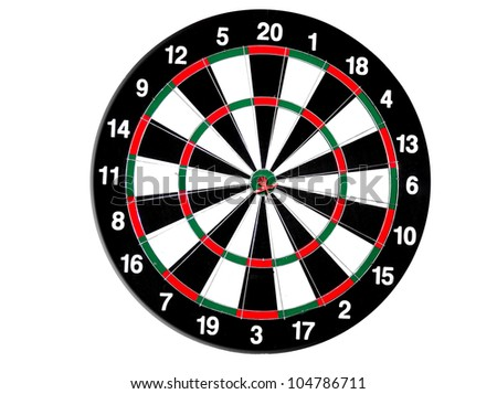 concept for hitting target, dart board with darts. - stock photo