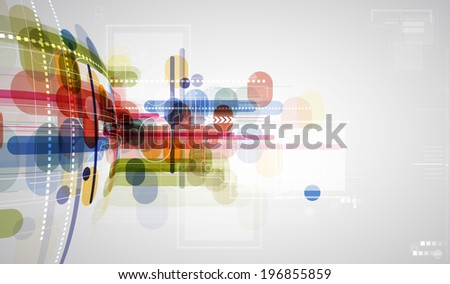 Concept for New Technology Corporate Business & development background - stock photo