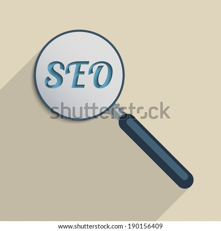 Concept for Search Engine Optimization, Digital Revolution and quick access to information - stock photo