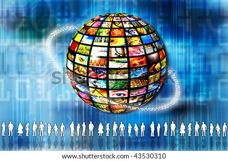 concept for social networking global - stock photo