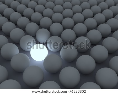 """Concept for """"Standing out of the Crowd"""" - stock photo"""