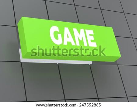 Concept GAME - stock photo