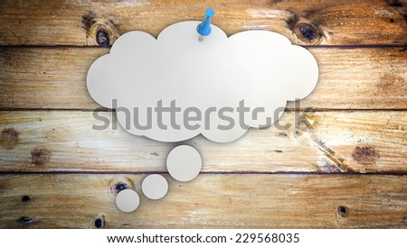 concept idea or thought as a cloud - stock photo