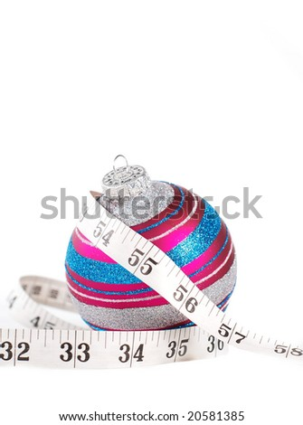 concept illustrating holiday weight gain - stock photo