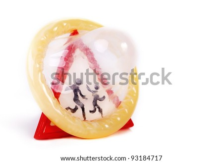 Concept image about prevention of unwanted pregnancies and abortions - stock photo