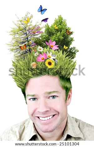 Concept image - environment on your mind - stock photo