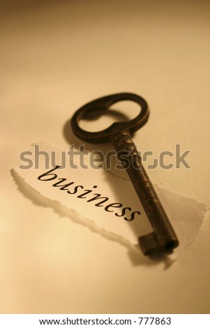 Concept Image: Key to business