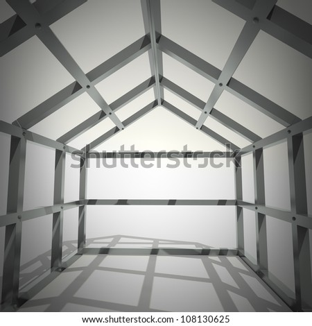 concept image new home framework isolated on white background 3d rendering