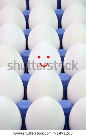 Concept image of best quality farm eggs - stock photo