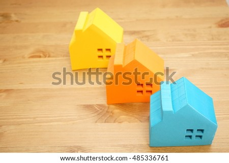 Concept image of buying home, investment and real estate business