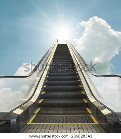concept image of heaven, Road to heaven (motion) - stock photo