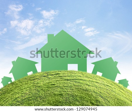 concept image of make your a house - stock photo