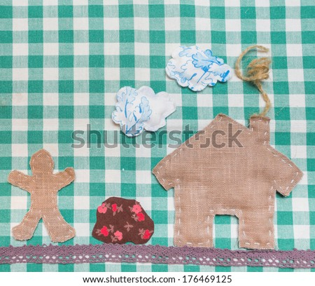 Concept image of make your own house - stock photo