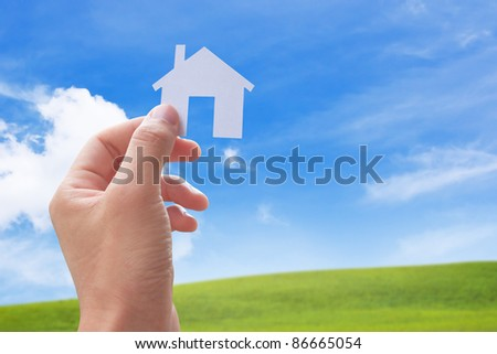 concept image of my new house - stock photo