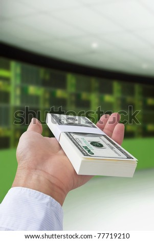 concept image of stock exchange - stock photo