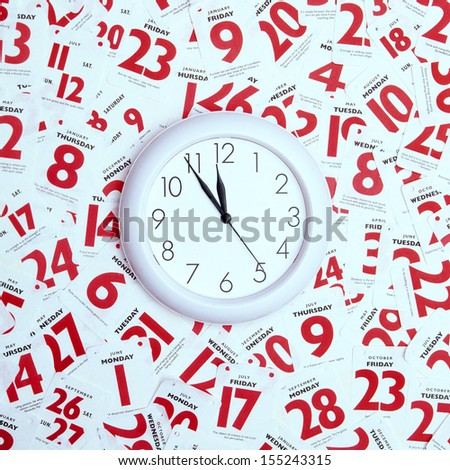 Concept image relating to managing life's  timetable, appointments etc - stock photo