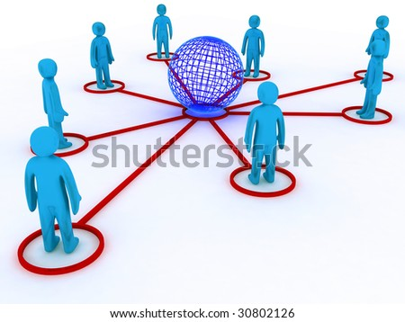 Concept image representing global networking. This image is 3d render.
