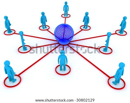 Concept image representing global networking. This image is 3d render. - stock photo