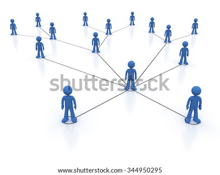 Concept image representing network, networking, connection, social networks, communications - stock photo