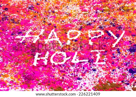 Concept ?Indian color festival called Holi - stock photo
