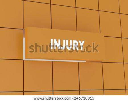 Concept INJURY - stock photo