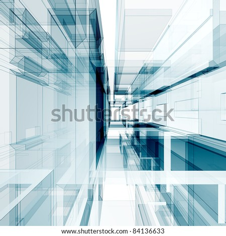 Concept interior. Abstract architecture background