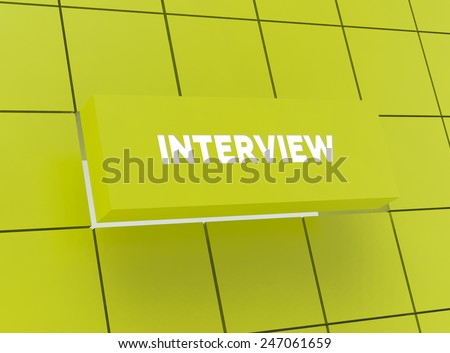 Concept INTERVIEW - stock photo
