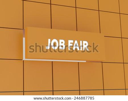 Concept JOB FAIR - stock photo
