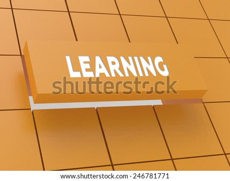 Concept LEARNING - stock photo