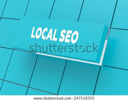 Concept LOCAL SEO - stock photo