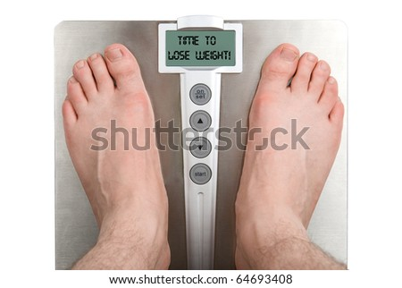 Concept: Lose weight. Isolation on white - stock photo