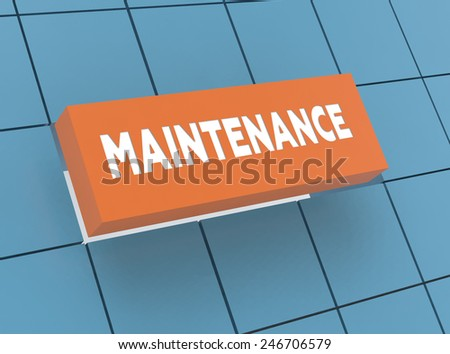 Concept MAINTENANCE - stock photo
