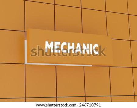 Concept MECHANIC - stock photo