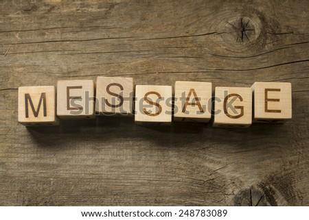 Concept MESSAGE - stock photo