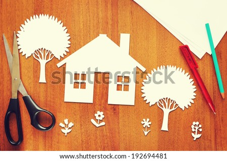 Concept of a happy home - stock photo