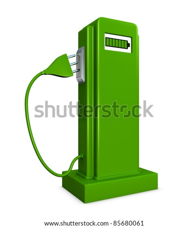 concept of a pump for recharge electric cars (3d render)