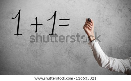 Concept of a simple calculation - stock photo