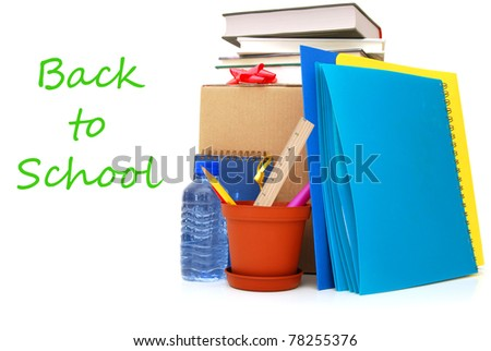 Concept of 'back to school' with freshmen student - stock photo