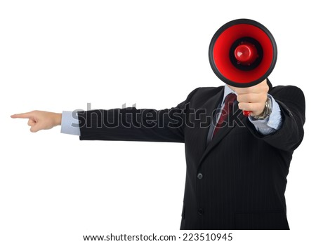 Concept of being told you're fired or to get out - stock photo