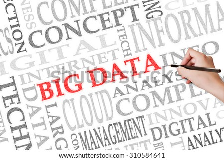 Concept of Big Data with text on the paper.