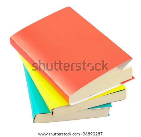 Concept of books isolated on a white background - stock photo