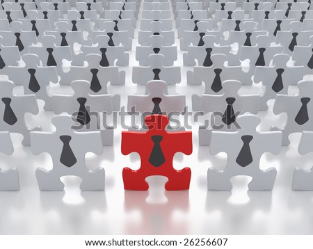 Concept of Business People Crowd - stock photo