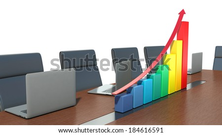 concept of business success in the meeting room - stock photo