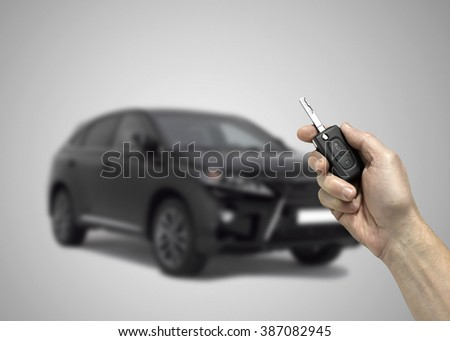 concept of buying new car or car sharing - stock photo