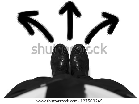 Concept of choices of a businessman - stock photo