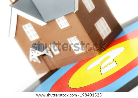 concept of choosing the right house - stock photo