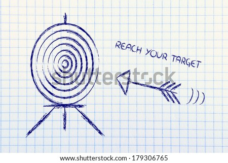concept of choosing the right target market in business - stock photo